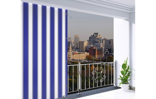 Balkon perdesi- mavi beyaz